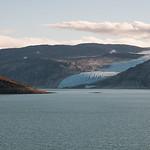 Utsikt mot Svartisen over Storglomvatnet