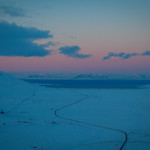 Longyearbyen fra Gruve-7 fjellet